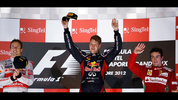 vettel button alonso cingapura f&#243;rmula 1 (Foto: Reuters)