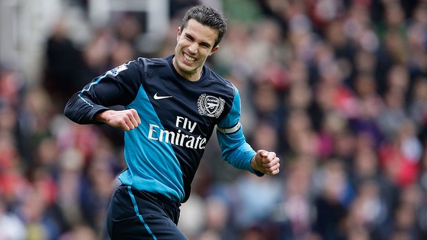 Van Persie, Stoke City x Arsenal (Foto: AP)