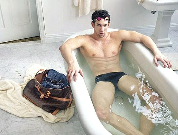 Michael Phelps campanha da marca Louis Vuitton (Foto: Reprodução)