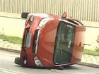 Cinco pessoas ficam feridas em um acidente na PR-170, em Guarapuava