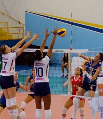 São José Vôlei Feminino x Minas Superliga (Foto: Danilo Sardinha/GloboEsporte.com)