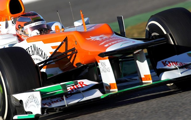 Jules Bianchi no segundo dia de testes em Jerez com a Force India (Foto: Getty Images)