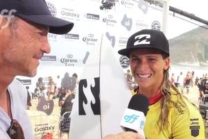 Courtney Conlogue vence o primeiro round do Rio Pro
