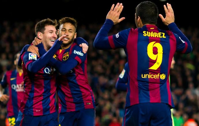 Messi Neymar Suárez Barcelona (Foto: Getty Images)