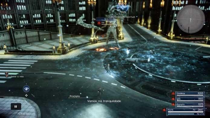 Congele o chefe em Final Fantasy XV (Foto: Reprodução/Murilo Molina)