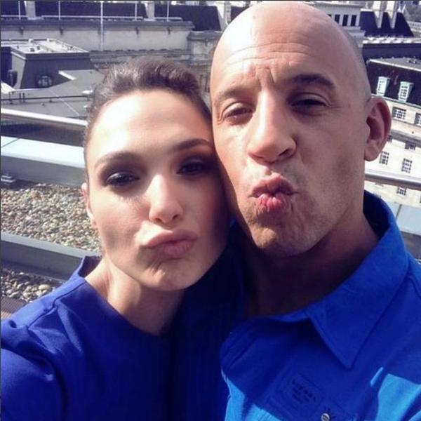 Vin Diesel e Gal Gadot (Foto: Instagram)