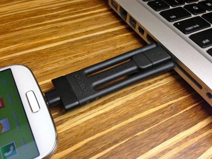 Acessório quer acabar com o 'caos de fios' dos carregadores de celular (Foto: Divulgação) (Foto: Acessório quer acabar com o 'caos de fios' dos carregadores de celular (Foto: Divulgação))