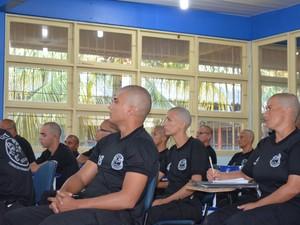 Mulheres da segurança de Roraima também participam de treinamento (Foto: Natacha Portal/G1 RR)