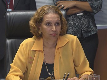 Rosângela Lessa, presidente do Cemit (Foto: Reprodução / TV Globo)
