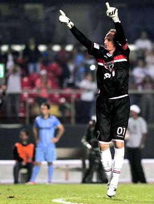 Rogério Ceni comemora gol do São Paulo contra o Bolívar (Foto: Marcos Ribolli / Globoesporte.com)