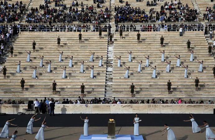 Cerimônia Tocha Olímpica Atenas (Foto: REUTERS/Alkis Konstantinidis)