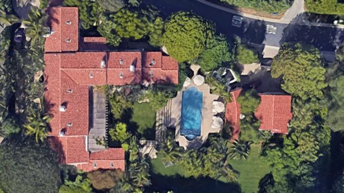 Vista aérea da propriedade (Foto: Google)