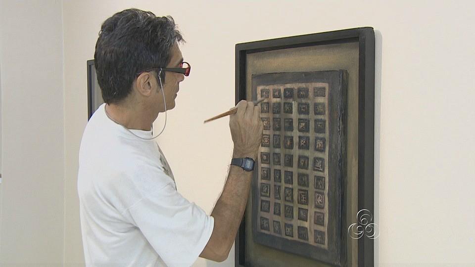 Obras do artista ficarão expostas até o dia 12 de dezembro, no Sesc Centro (Foto: Amazônia TV)