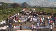 Cafeicultores fazem protesto o sul da Bahia
