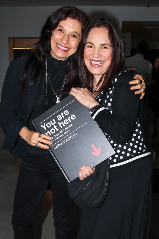 Tuna Dwek e Regina Duarte (Foto: Manuela Scarpa/Brazil News)