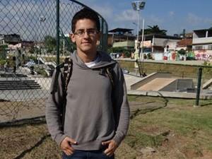 David Lucas no Parque Madureira  (Foto: Malhação / TV Globo)