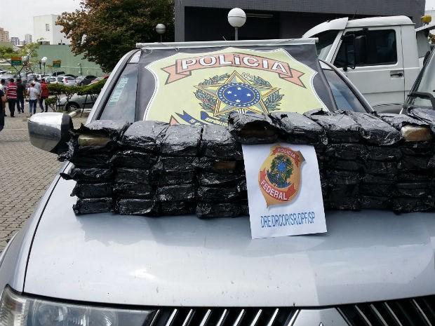 Polícia Federal apreende mais de 50 quilos de cocaína em Araçoiaba da Serra (Foto: Divulgação/ Polícia Federal)