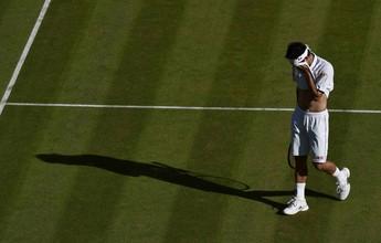 Kei Nishikori volta a sentir lesão na panturrilha e abandona Wimbledon