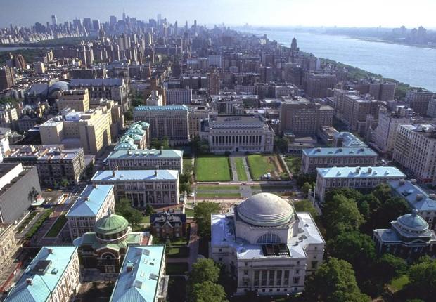 Vista aérea do campus sul da Universidade de Columbia, em Nova York (Foto: Divulgação)