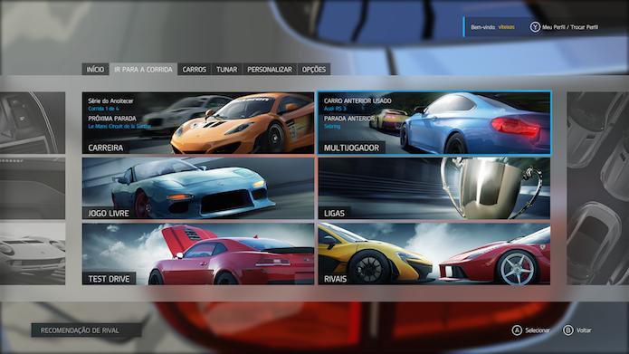 Saiba como jogar o multiplayer de Forza Motorsport 6 (Foto: Reprodução/Victor Teixeira)