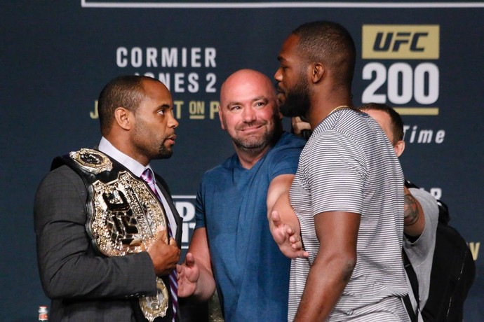Jon Jones x Daniel Cormier Coletiva UFC 200 (Foto: Evelyn Rodrigues)