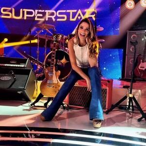 Rafa Brites nos bastidores do SuperStar (Foto: Arquivo pessoal)