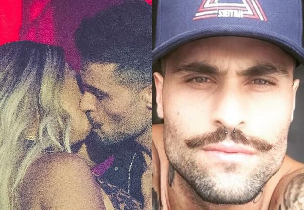 Valesca Popozuda beija Fagner em clipe em parceria com MC Rael (Foto: Divulgação e Reprodução/Instagram)