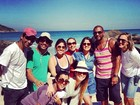 Cleo Pires posa nos bastidores de gravação de 'Salve Jorge': 'Último dia'