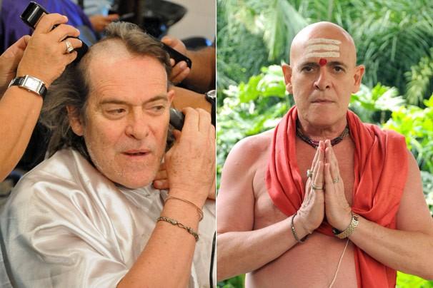 A transformação de José de Abreu em Pandit, seu personagem em Caminho das Índias (Foto: CEDOC Globo)