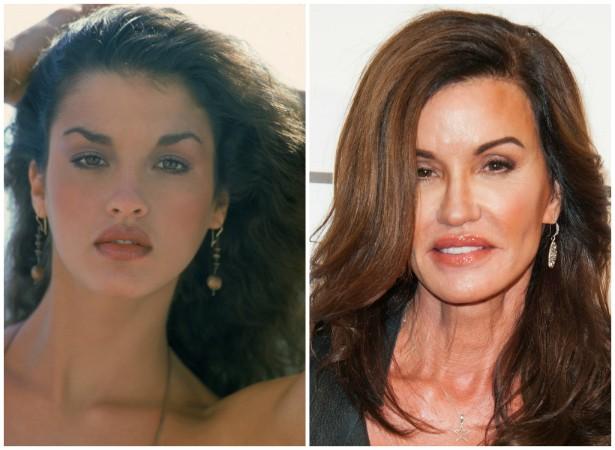 A supermodelo Janice Dickinson em 1978 e em outubro de 2014. (Foto: Getty Images)