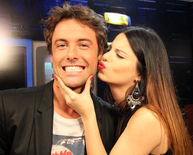 Sthefany Brito e Kayky Brito falam sobre a amizade entre eles (Foto: TV Globo/Altas Horas)