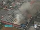 Incêndio atinge supermercado em Taboão da Serra, na Grande SP