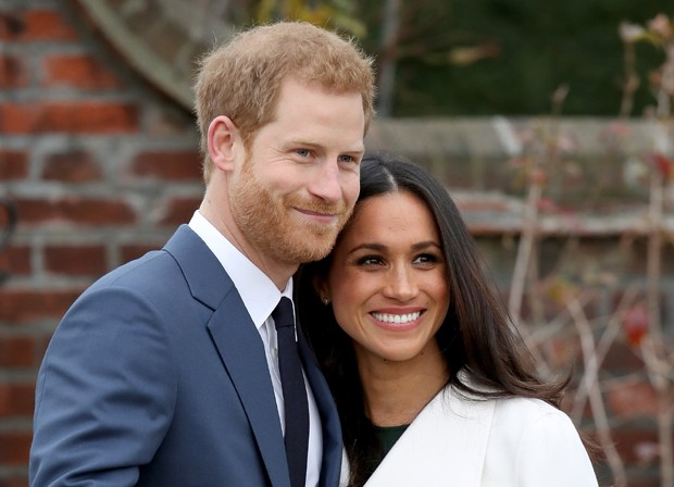 Príncipe Harry e Meghan Markle durante o anúncio do noivado (Foto: Chris Jackson/Getty Images)