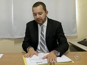 Promotor Marlon Fernandes pediu cassação após denúncias (Foto: Reprodução/ TV TEM)