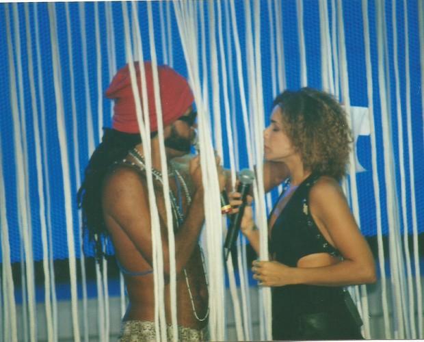 Clique de Carlinhos Brown com Daniela Mercury (Foto: Arquivo pessoal)