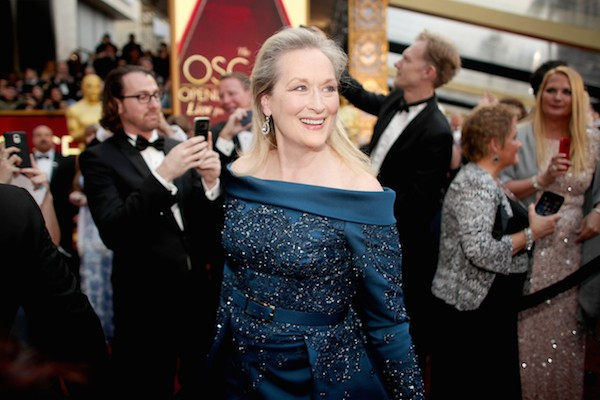 A atriz Meryl Streep no Oscar 2017 (Foto: Getty Images)
