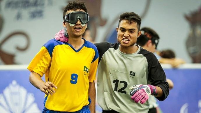 Futebol de 5: Brasil x Argentina, final dos Jogos Parapan-Americanos, em São Paulo (Foto: Divulgação/CBDV)
