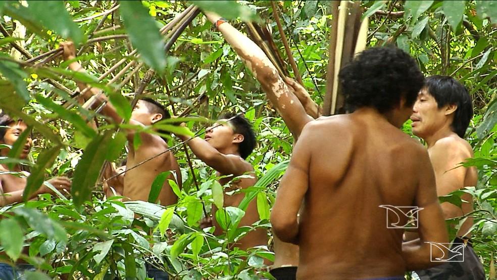 Índios perderam espaço e foram sendo esquecidos durante o processo de urbanizaçao (Foto: Reprodução TV Mirante)