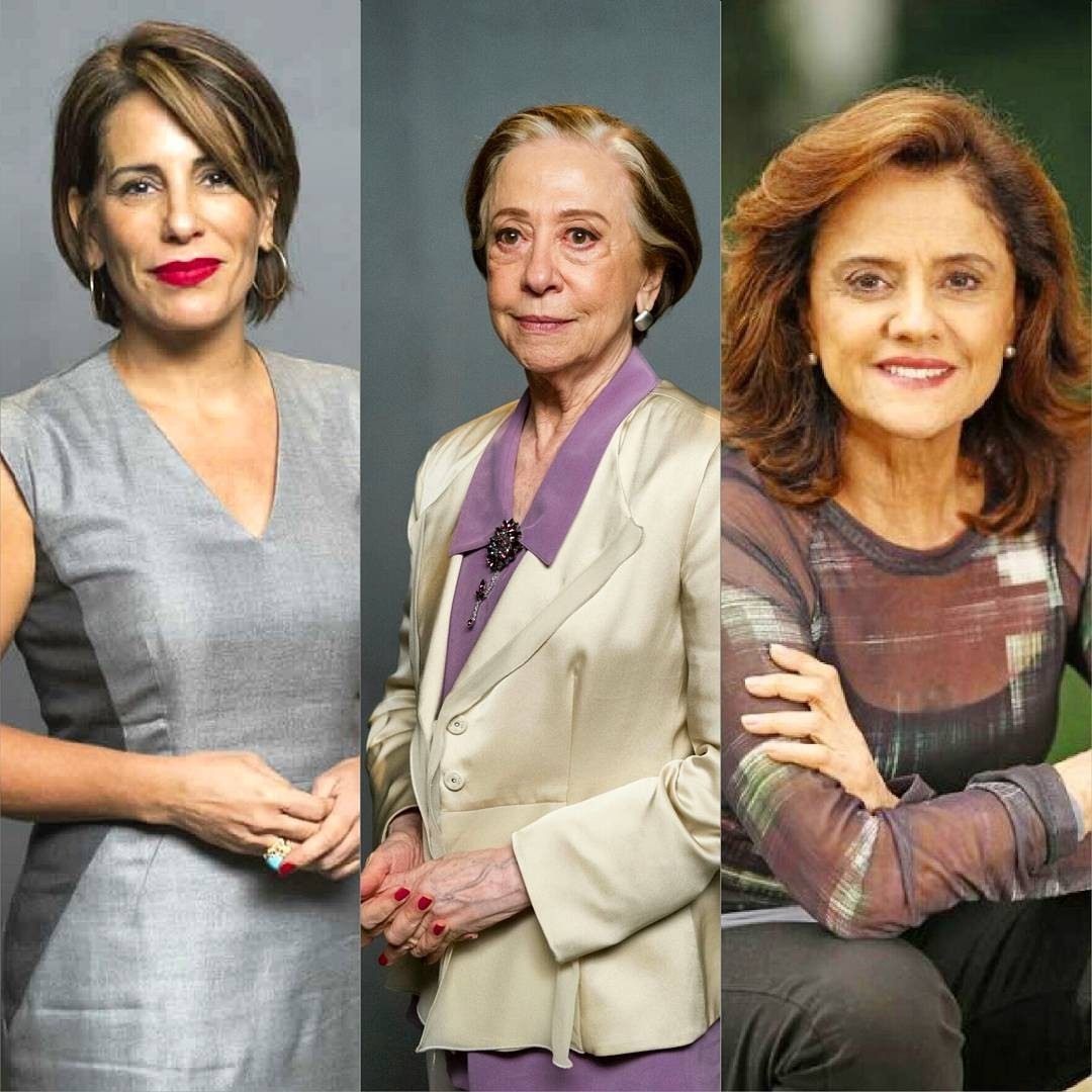 Glória Pires, Fernanda Montenegro e Marieta Severo estarão  na próxima novela da Walcyr Carrasco (Foto: Reprodução Instagram)