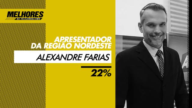 Apresentador foi eleito o melhor do telejornalismo na categoria Nordeste (Foto: Divulgação/Site Melhores do Telejornalismo)