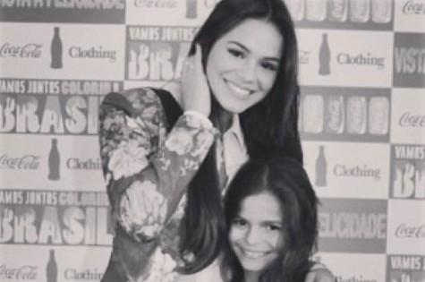 Luana e Bruna Marquezine (Foto: Reprodução)
