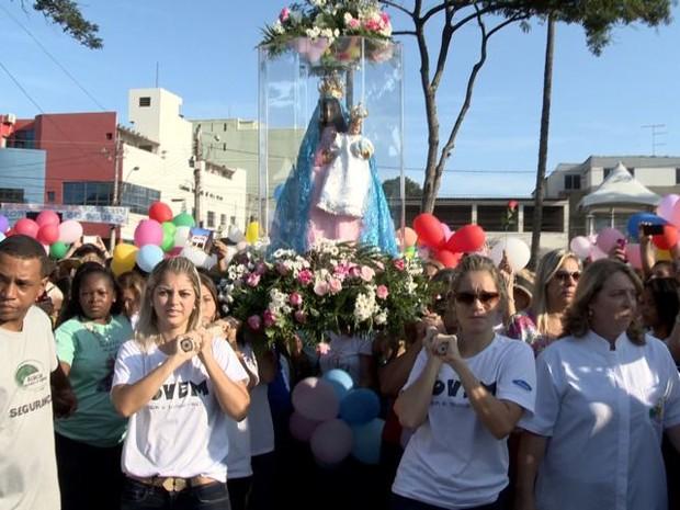 Romaria das Mulheres reúne devotas no Espírito Santo (Foto: Reprodução/ TV Gazeta)
