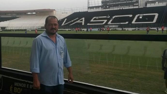 Francisco Evaldo, representantes da Semes de Porto Velho em visita ao Vasco da Gama (Foto: Arquivo Pessoal/Facebook)