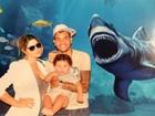 Dentinho leva o filho e a mulher a aquário em Istambul