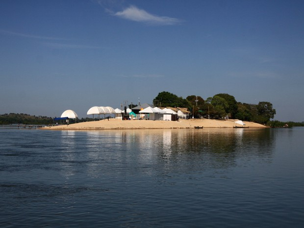 A praia do Murici é um cartão postal de Xambioá (Foto: Emerson Silva/Adtur)