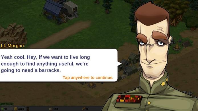 Todas as missões de Battle Nations são passadas por extensos diálogos entre os assessores, desenvolvendo um pouca a sua história (Foto: Reprodução/Daniel Ribeiro)