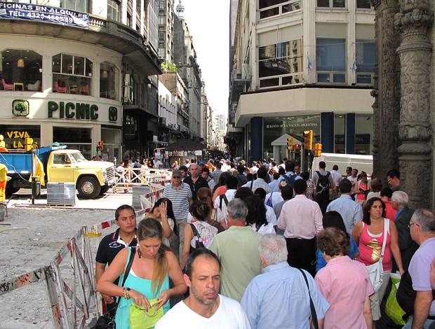 cidade Buenos Aires movimentação jogo Seleção (Foto: Márcio Iannacca / Globoesporte.com)