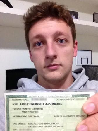 Luís Felipe Fuck usa sobrenome de outras formas para evitar patrulha do Facebook (Foto: Reprodução/Acervo Pessoal)