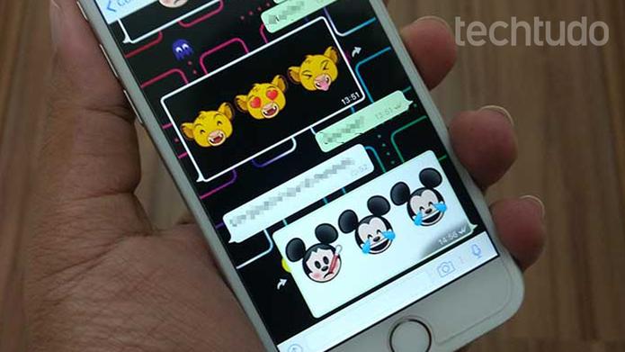 Como adicionar emojis de personagens da Disney e
