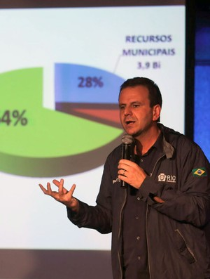 Eduardo Paes, coletiva orçamento jogos olímpicos Rio 2016 (Foto: Fabio Motta / Ag. Estado)